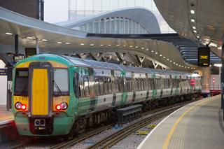 Southern train at London Bridge - library picture