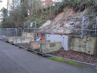 Tunnel Road Reigaet landslip