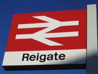 reigate train station sign