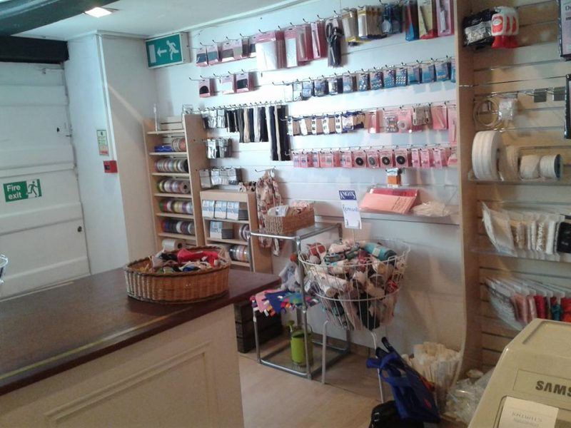 knights haberdashery side view inside shop