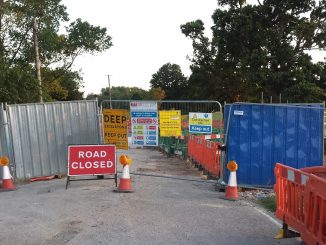 flanchford bridge replacement works 16 August 2016 from Reigate side