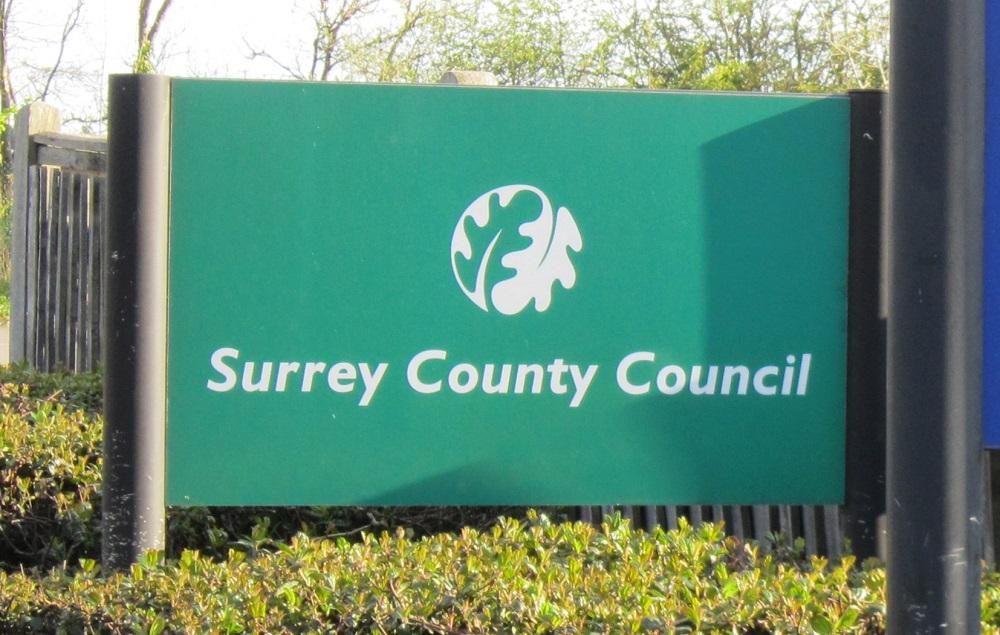 Surrey County Council sign