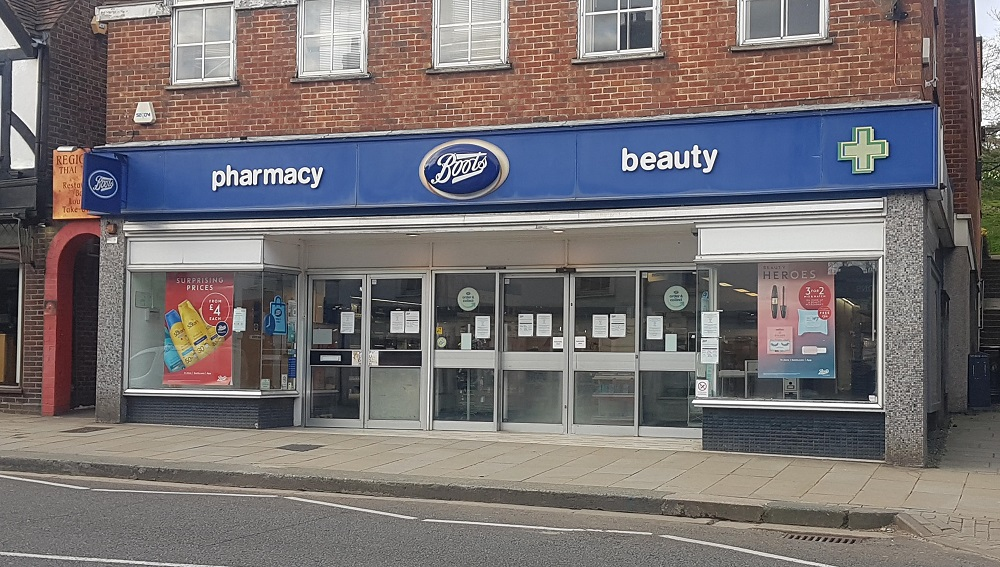 Boots in Reigate, March 2020