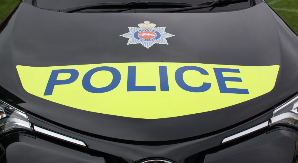 Bonnet of Surrey Police car September 2017