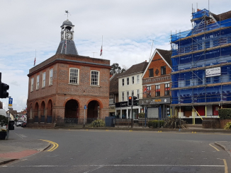 Photo of Old Town Hall in April 2021